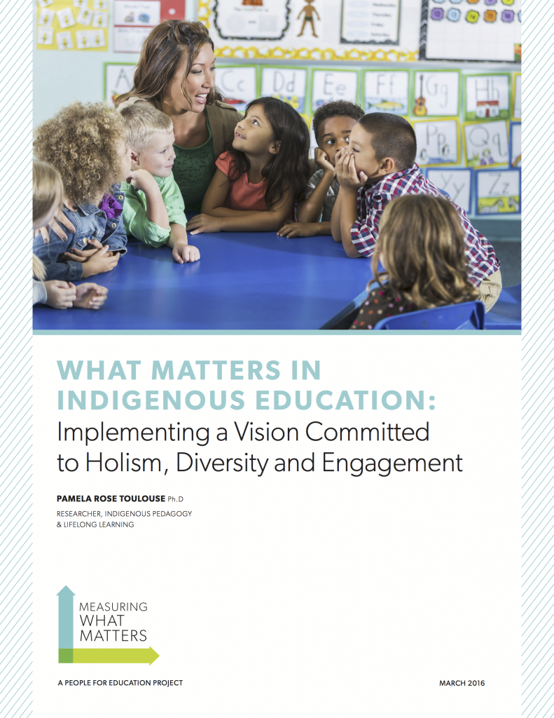 What matters in Indigenous education: Implementing a Vision